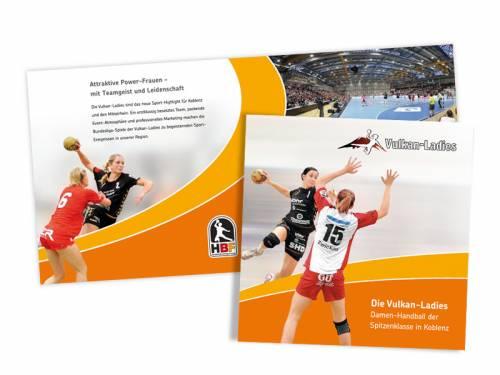 Sponsoren-Broschüre Frauenhandball TuS Weibern – Vulkan-Ladies