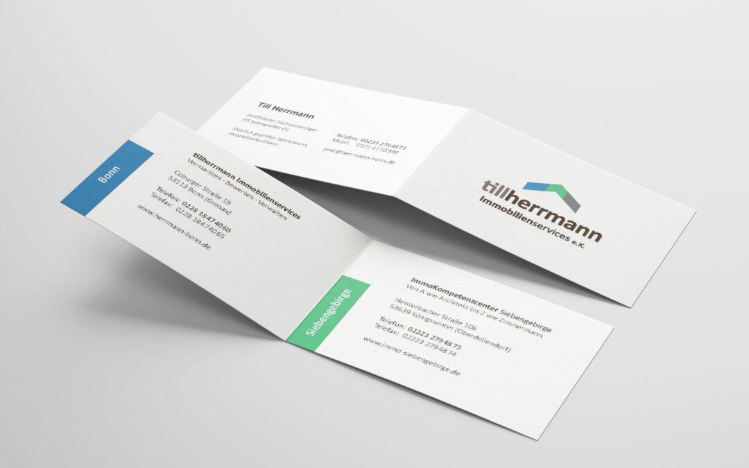 Geschäftsausstattung TillHerrmann Immobilien Bonn