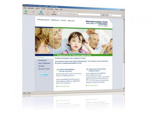 Konzeption Webdesign Rheinwohnungsbau Düsseldorf