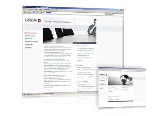 Webdesign und Programmierung für Lorenz Softwareberatung