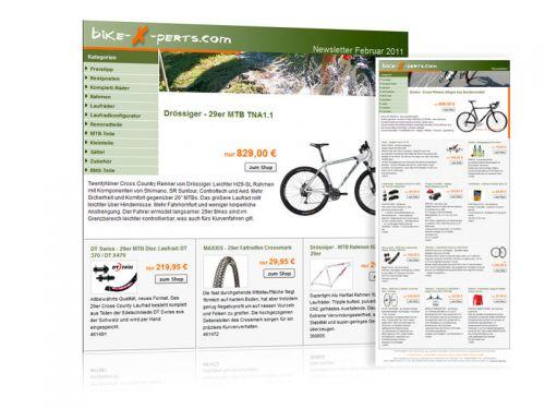 Programmierung und Design Newsletter Online-Shop